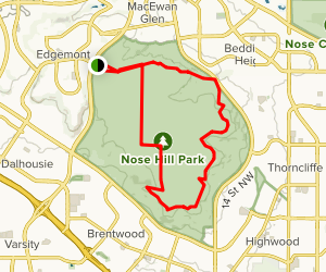 Nose Hill Map