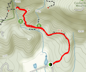Falls Creek Waterfall Trail Map