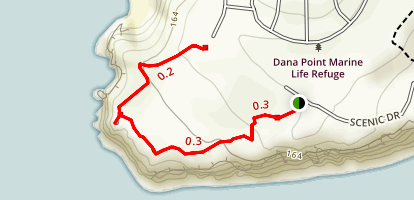 Dana Point Nature Interpretive Center Trail Map
