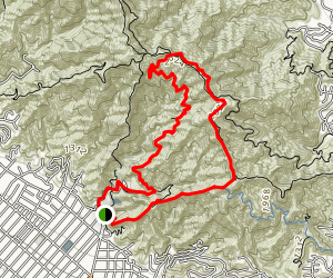 Verdugo Crest Trail Map