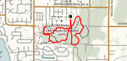 LBA Park Loop Trail Map