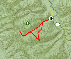Essex Creek Trail to Almeda Lake Map