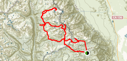 Horseshoe Meadow Trail Map