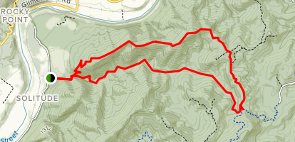 Sprouts Run Wilson Mountain Loop Trail Map