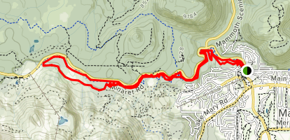 Uptown Downtown Singletrack Loop Trail Map