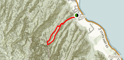 Hau'ula-Waipilopilo Loop Trail Map
