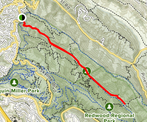 Stream Trail via Skyline Blvd Map
