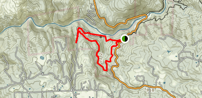 Jones Bar and West Trail Loop Map
