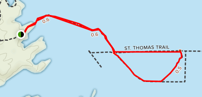 St. Thomas Trail Map