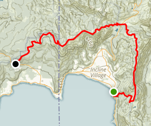 Tahoe Rim Trail (TRT): Tahoe Meadows to Brockway Summit Map