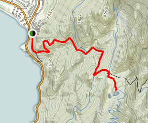 Tahoe Rim Trail (TRT): Tahoe Meadows to Twin Lakes Map