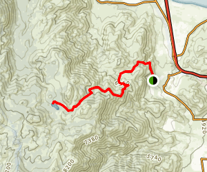 Hobart Creek Reservoir Trail (via Carson City) Map