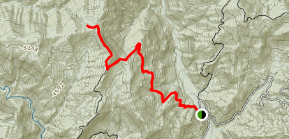 Beech Gap Trail to McGee Springs Map