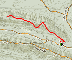 Black Fork Mountain Trail Map
