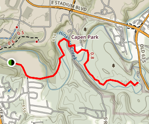 Hinkson Creek Trail Map