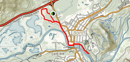 Boat Landing to Bow Falls Trail Map