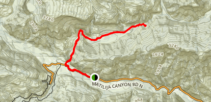 N. Fork Matilija Trail 23W07 Map