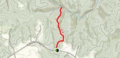 Caney Creek Falls Trail Map