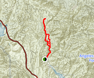 Cienaga Canyon Trail Map