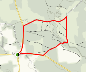 Saint-Gor Loop Trail Map