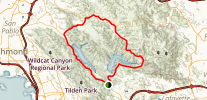 San Pablo Reservoir Road Biking Loop Map