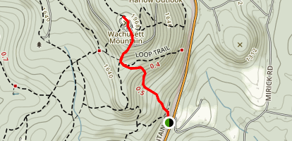 Wachusett Mountain Lookout Tower Trail Map