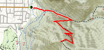 Malan's Peak Trail Map