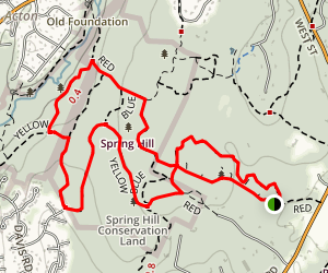 Spring Hill Yellow and Blue Loop Trail Map