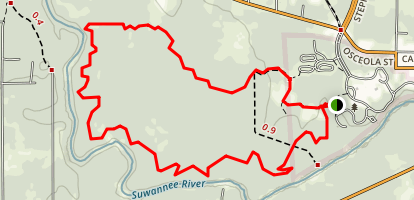 Stephen Foster Suwannee River Loop Trail Map