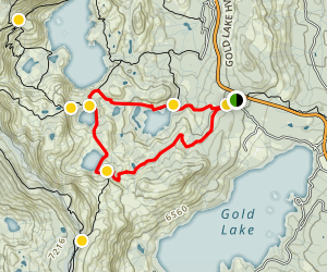 Bear Lakes and Round Lake Loop Trail Map
