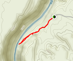 Manby Hot Springs Trail Map