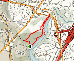Rutgers Gardens Via Heylar Woods Trail Map