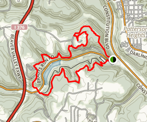 Bradys Run Trail Map