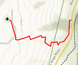 Maple Road Trail to Blue Ridge Map