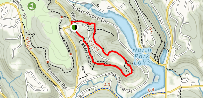 North Park Green Trail Map