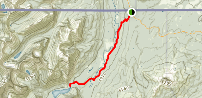 Belly River Trail to Cosley Lake Map