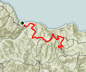 Cueva Valdez to Arch Rock Trail Map