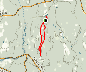 Barre Falls Dam Trail Map