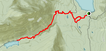 Boulder Pass to Lake Janet Map