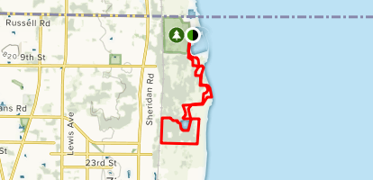 Illinois Beach State Park: North Unit Trail Map