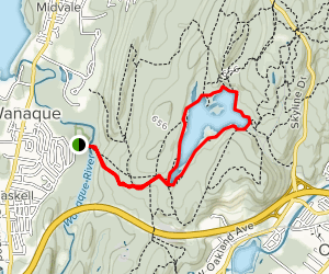 Ramapo Lake Cannonball Loop Trail Map