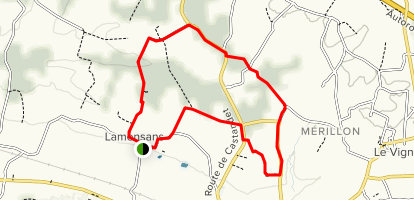 The Lamensans Loop Trail Map