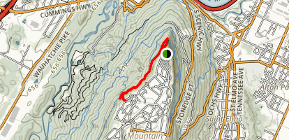 Sunset Rock via Bluff Trail Map