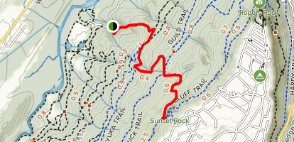 Kiddie Trail to Sunset Rock Map