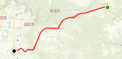 Caprock Canyon Trailway Map