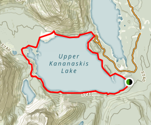 Upper Kananaskis Lake Trail Map