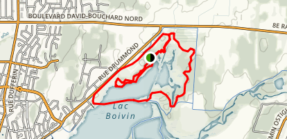 Centre D'interprétation de la Nature du lac Boivin Map