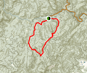 Butter Gap to Cat Gap Trail  Map