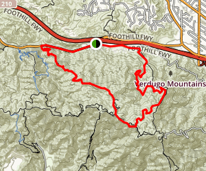 Hostetler Fire Road - La Tuna Canyon Map