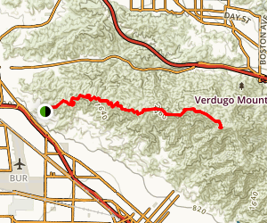 Chandler Motorway to Verdugo Peak Map